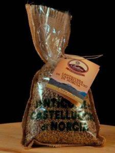 Lenticchia di Castelluccio di Norcia in sacchetto di juta